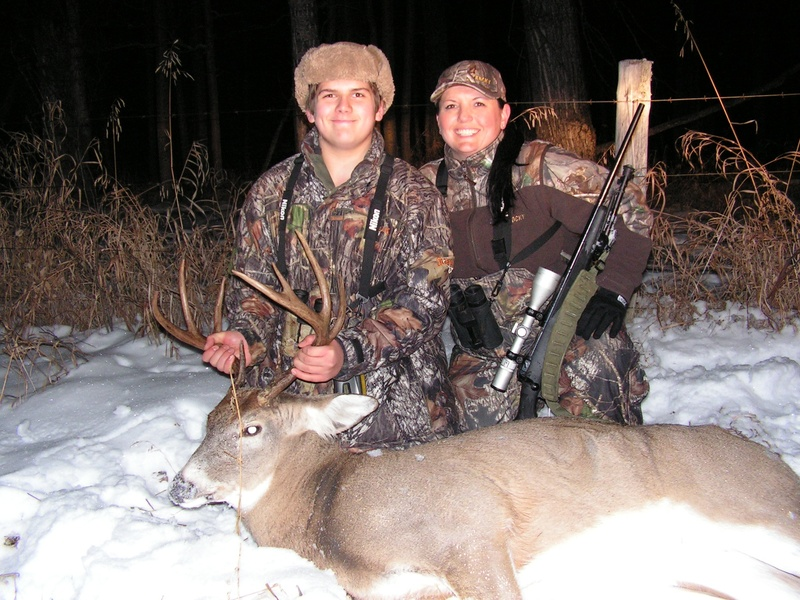 Our son Jordan first deer!!!!