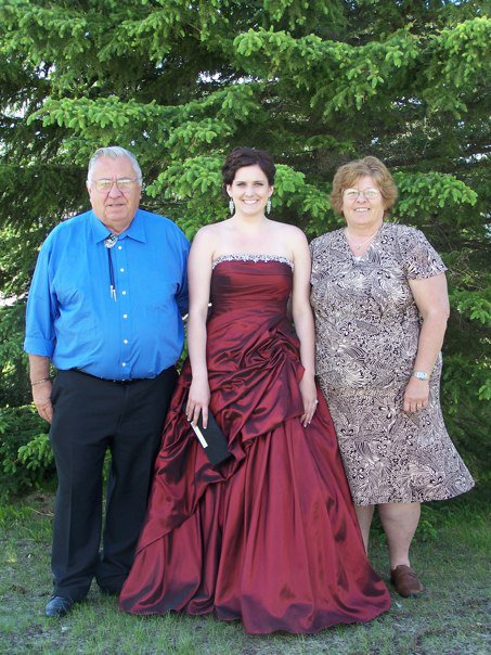Jenna's Grad with Grampa & Gramma